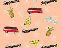 Sayyonara Pattern shirt