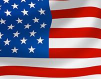 30+ Realistic Flag Mockup Templates PSD