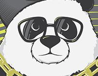 Hip-Hop Panda | Vector Illustration
