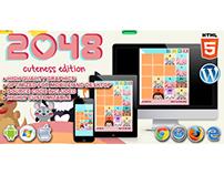 HTML5 Game: 2048 Cuteness Edition