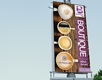 Boutique Cafe - Lamp Post Banners