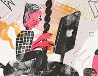 "Editorial Illustrations for ""Takie Dela"""