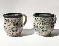 Animal Faces Patterned Mugs