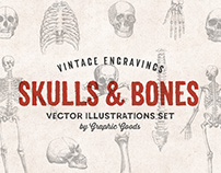 Skulls & Bones – Vector Engravings Set