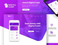 Digital Cash App landing page