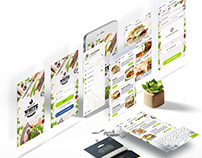 Premium White Restaurant IOS APP UI KIT Design