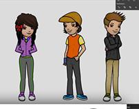 I.A.P.A. urban teen characters