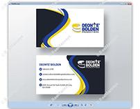 DEONTE' BOLDEN Business Card Design - RealMacways