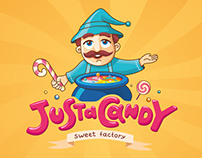 JustaCandy. Logo design, corporate style