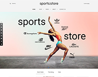 Sports store - Joomla Virtuemart template