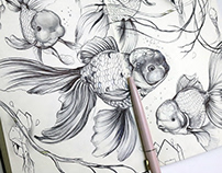Inktober sketches (animals)