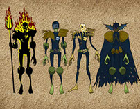 2000AD characters-cartoon style