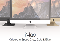 iMac in Space Gray, Silver & Gold