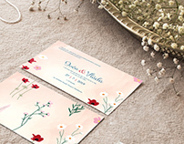 Wedding invitation design (client: I+V)