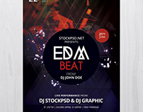 EDM Beat - Free PSD Flyer Template