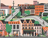 Messe Frankfurt – Annual report illustrations