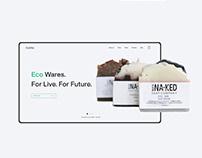 Website for Eco wares online store.