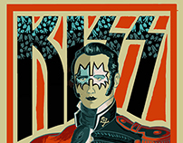 KISS II Chile Gig Poster