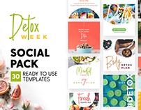 Detox Week - Social Pack