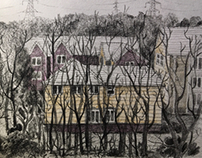 Drawing- hiding houses