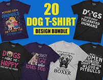 Dog T-shirt Design Bundle.