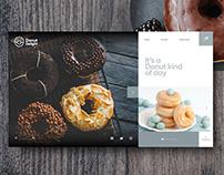 Donut Delight Website Concept