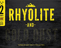 Rhyolite and Gold Dust Font