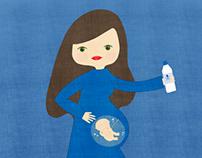 Proyecto ilustraciones para Agua del rosal