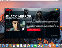 Netflix for macOS - Simple concept