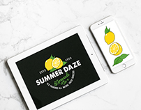 Summer Daze Lemonade Co. Logo - Identity Design