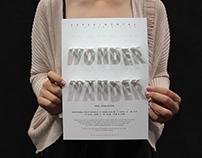 Wonder Wander - Experimental Film Exhibition Poster