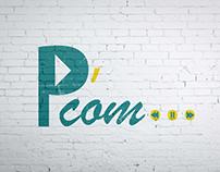 P'com... logo design