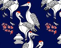 Japanese Garden Cranes