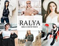 Ralya Mobile & Desktop Lightroom Presets