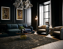 Black Classick Livingroom