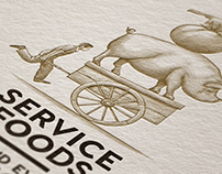 Service Foods Brand Identity rendered by Steven Noble