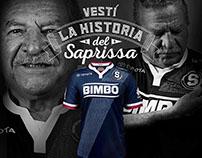 Publicidad tercera camiseta del Deportivo Saprissa