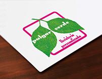 Logo, tarjetas, flyers y pegatinas para Pulgar Verde