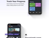 Most Popular Dark UI Design for Fitness App