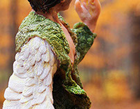 The Sixth Swan Boy: Sculpey Maquette