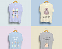 Cute and Funny T-shirts With Illustrations and Quotes