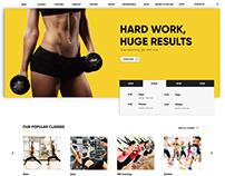 Landing page   Sport website