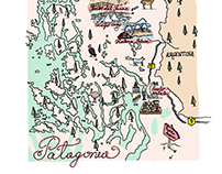 Paula: An Illustrated Map of Patagonia