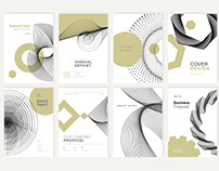 Abstract Brochure and Annual Report Design Templates