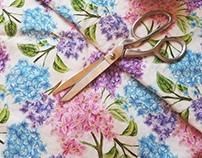Lilac print fabric