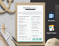 Resume / Cv With Apple Pages & Ms Word