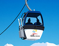 Isola 2000 Ski Resort Poster