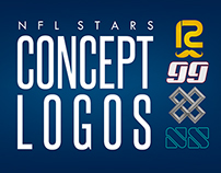 Concept Logos of NFL Stars