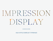 Impression Display Typeface