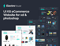 ElectroHouse Website UI Kit